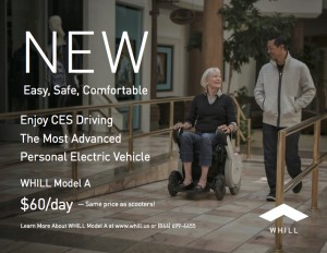 """WHILL Announces """"WHILL Rental"""" at CES 2017"""